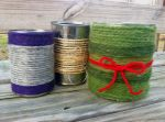 Yarn Wrapped Tin Can Planters (Examples))