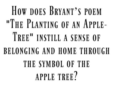 Poetry of william cullen bryant the planting of the apple tree the poems various stanzas walk through the passage of time starting with the planting of the apple tree and ending with the apple tree in its old age sciox Choice Image